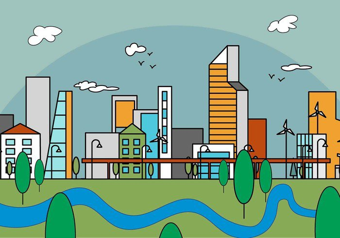 view vector urban trendy town tower style structure street skyscraper skyline sky silhouette set scene scape roof panorama morning modern Metropolis linear line landscape isolated industrial illustration house horizon home front exterior evening environment drawing downtown design day construction colorful cloud cityscape city building big banner background art architecture abstract