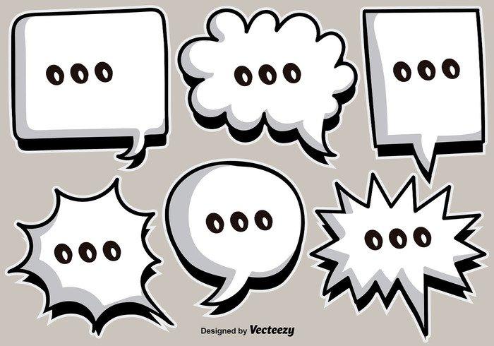 web vector text template talk tag symbol sticker speech speak retro paper message label icon dialog communication cloud cartoon callout bubble blank background