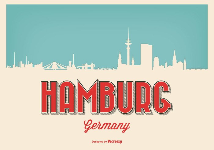 vintage view urban travel tower tourism sun structure skyline silhouette scene retro Place panorama old modern landscape landmark horizon harbor hamburg skyline vector hamburg skyline hamburg germany German Europe downtown Destination construction clouds cityscape city skyline city church business Built Bridge balloon background architecture