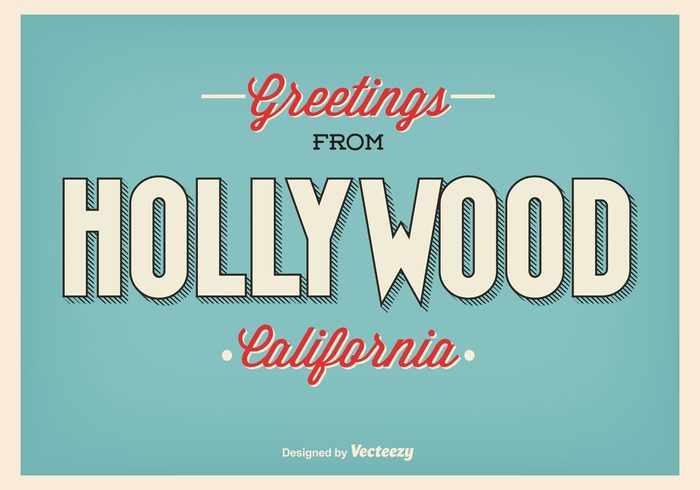 vintage vacation USA United typography trip travel tourism states stamp sign scratch retro poster postcard postal North America nation message letter leisure hollywood california hollywood holidays greetings E-card country city america aged advertising 50's