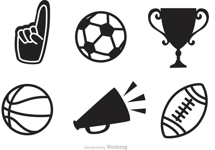 black sports vector icons 145391 welovesolo rh welovesolo com sports director sports vector