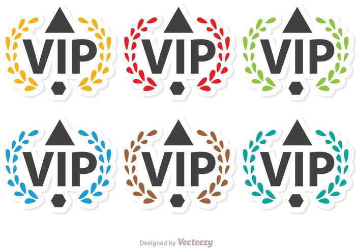 vip icon vip success rich Membership member medal luxury laurel VIP laurel badge laurel important icon glamour glamorous exclusive celebrity casino