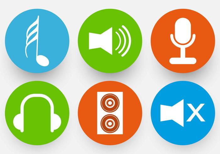 symbols speaker sound party music symbols music icons music elements music microphone icons headphone