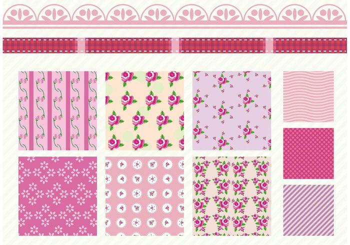 Wallpaper Vintage Stripe Shabby Chic Pattern Seamless Scrapbook Scrap Booking Rose Romantic Retro