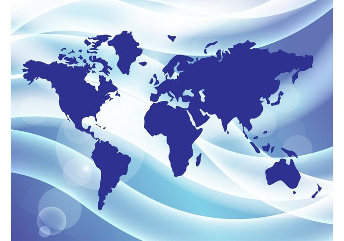 world waves vacation tubes travel tourism strands map light holidays earth Discovery countries continents bright