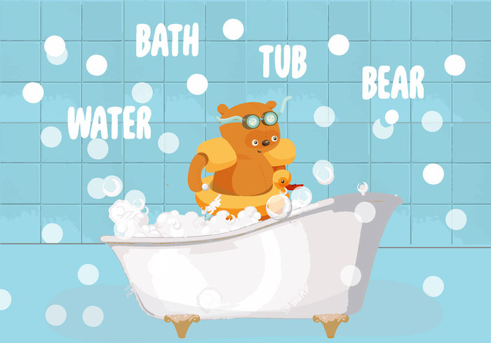 wet water wash vintage vector Tub toilet style steam spume spa soap sketch shower retro relax Plumbing object lather isolated interior indoor illustration icon hygienic Hygiene house hot home health graphic fun foam faucet element drawing design cute crane clip clear clean classic childhood cartoon care bubble blue bear bathtub bathroom bath art
