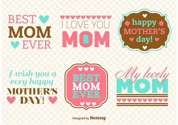 vintage typography sign Mum mothers day label mother's day badge mother's day background Mother's day mother mommy mom love heart happy mothers day happy greeting font decoration day celebration card best