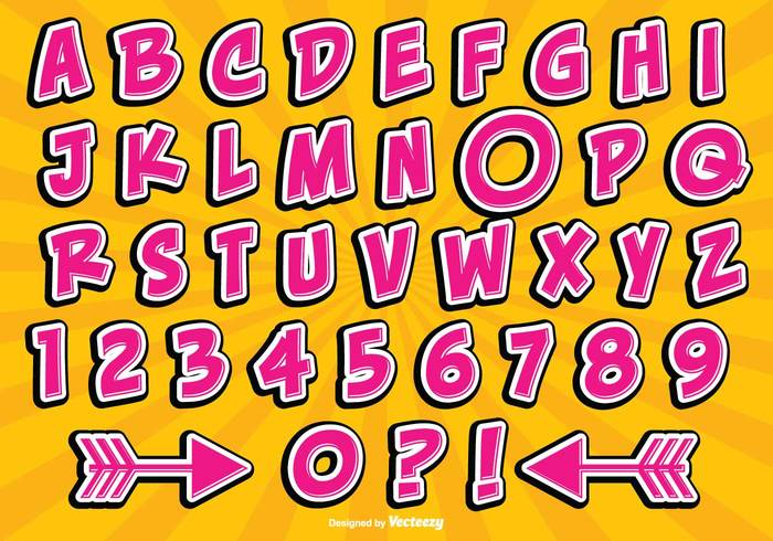 word typeset type text template symbol stylized style sign shiny shadow set retro pink numbers letters letter isolated graphic gradient glossy fun alphabet fun font element design decorative cute alphabet cute comics comic style comic alphabet color collection character Cartoon style calligraphy background art alphabet abc