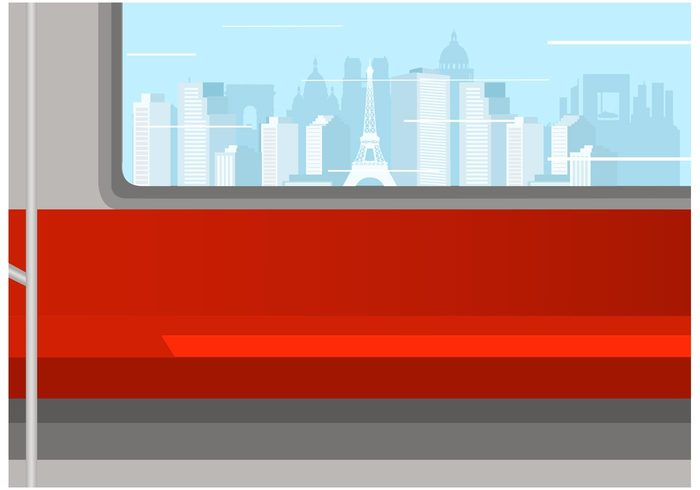 window vehicle vector urban travel transportation transport transit train track subway station set railway railroad rail public passenger paris metro Paris motion modern metro isolated interior inside illustration icon high fast element cutaway coach cityscape car background