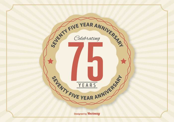 Years typography Tradition text sign shadow seventy five seventy fifth quality poster numeral number invitation illustration happy happiness graphic design collection certificate celebration celebrate card birthday banner badge background anniversary Age 75th 75 year celebration 75 anniversary 75 70th 70