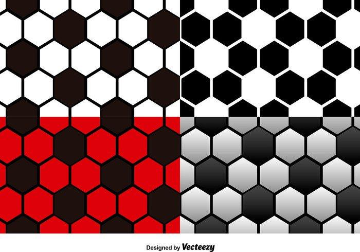 Pattern For Sport Wallpaper: Vector Set Of Football Seamless Patterns