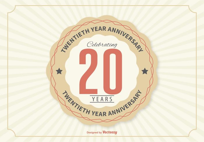 Years year wedding twentieth trust template tag symbol Successful success sticker stamp sign seal retro poster party partnership number marriage label jubilee incorporation illustration happy graduation emblem design decoration corporate company certificate ceremony celebration card business brand birthday banner badge background anniversary 20th 20