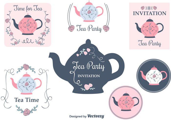 vintage victorian teapot tea party invitation tea party tea kettles tea sweet sugar pot party kettle invitation card invitation high tea hand drawn flowers decorated card breakfast