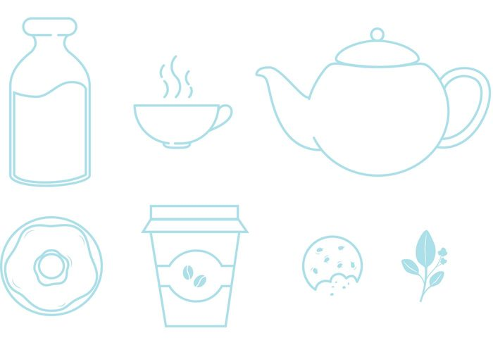 Vector Icon teapot tea party tea leaf Tea kettle tea icons tea cup tea milk line icons high tea food icons food icon food drinks donut bottle Biscuit beverages