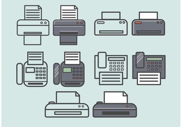website web telephone sign set printer print phone paper office modern message mail internet icon set fax icons fax icon fax equipment email document computer clock calendar button business