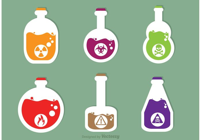 warning Toxin toxic skull shape Poisonous poison bottle poison Mortal liquid Lethal glass flask death Dangerous danger Cranium caution bottle bane