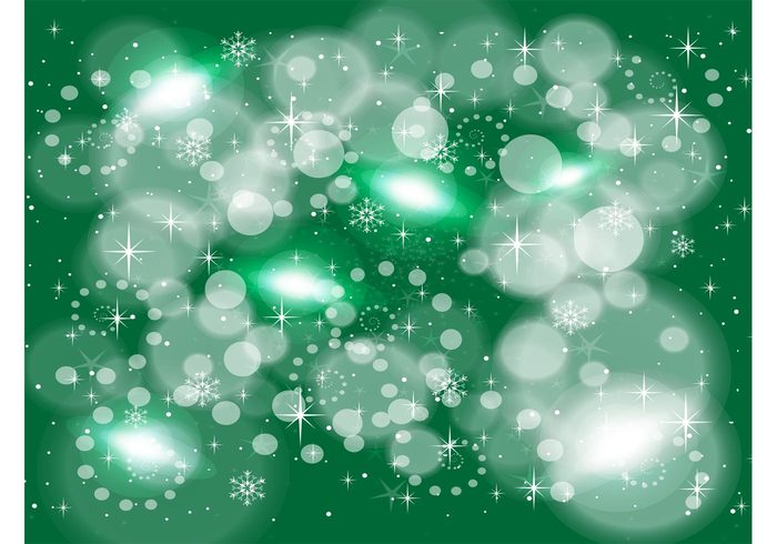 winter vector stars sparkle snow flakes snow shine greeting card green dots design collage cold circle banner art