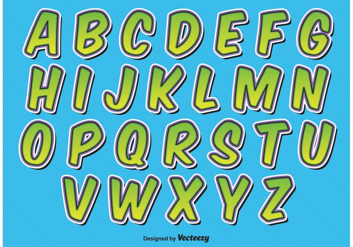 word vector typeset type text template symbol stylized style sign shadow set retro letter isolated fun alphabet fun font element decorative cute comics comic style letters comic style comic alphabet colorful color collection character Cartoon style background alphabet vector alphabet abc