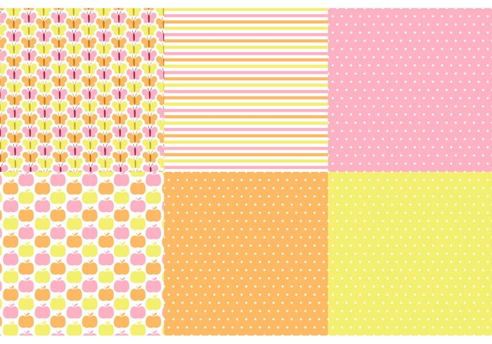 yellow wallpapers vector pattern set Textile summer stylish stripes spring retro polka dot pattern polka dot pink pattern set pattern papers set papers orange fruit pattern fabric Design set design decorative decoration decor colorful butterfly pattern butterfly background apple pattern aaple