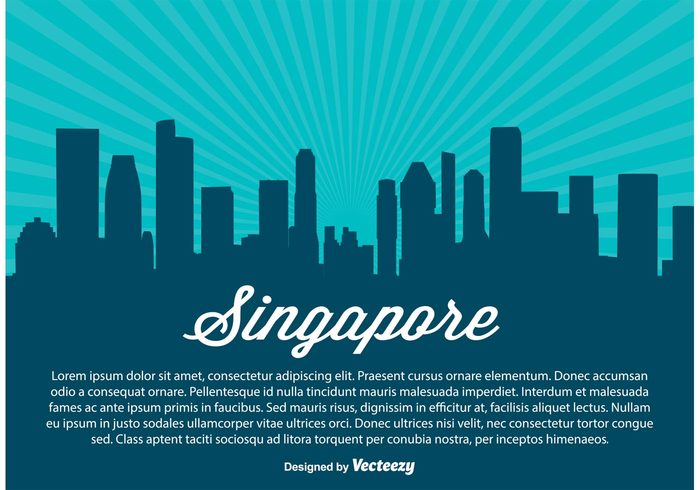 vintage urban travel tower tourism sun structure skyscraper skyline singapore skyline Singapore silhouette retro postcard panoramic panorama modern Metropolis landscape landmark illustration downtown Destination design cityscape city illustration city business building Bridge banner background asia architecture