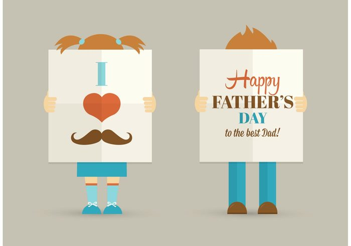 you vector symbol sign showing Relationship poster Parenting parent Papa mustache men Masculine male love joyful i holiday heart happy happiness hand greeting girl gift Gentleman friendship folded fold flyer female Fathers Fatherhood father family day Daddy dad congratulation character celebration cartoon caring card boy best banner background adorable