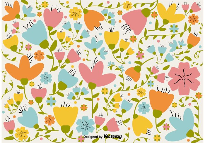 summer spring romantic retro pattern nature hand drawn flower hand drawn floral flower wallpaper flower background flower floral wallpaper floral background floral design blossom beauty background