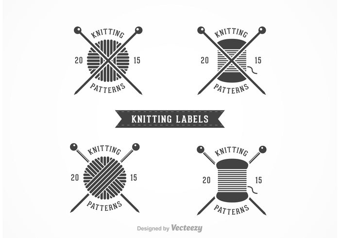 Knitting Club Logo : Free knitting vector labels welovesolo