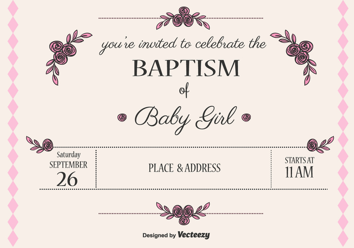 Baby girl baptism vector invitation 108618 welovesolo baby girl baptism vector invitation 108618 stopboris Image collections