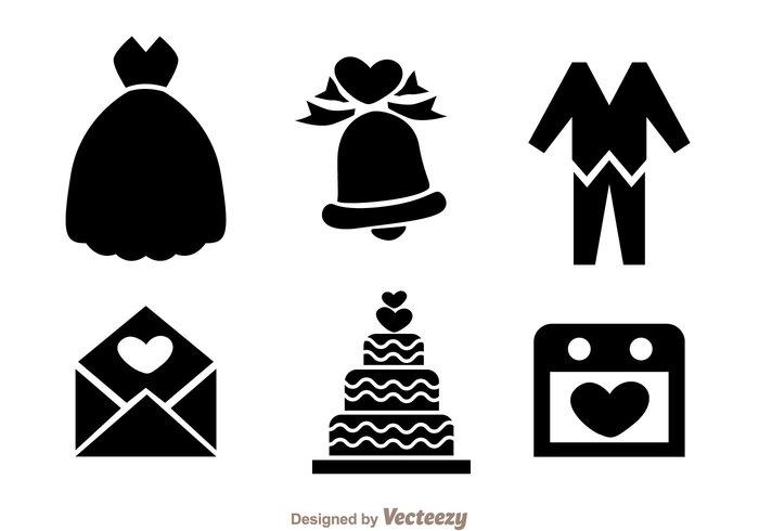 wedding bells wedding party love letter love letter happy dress cloth calendar cake black bells