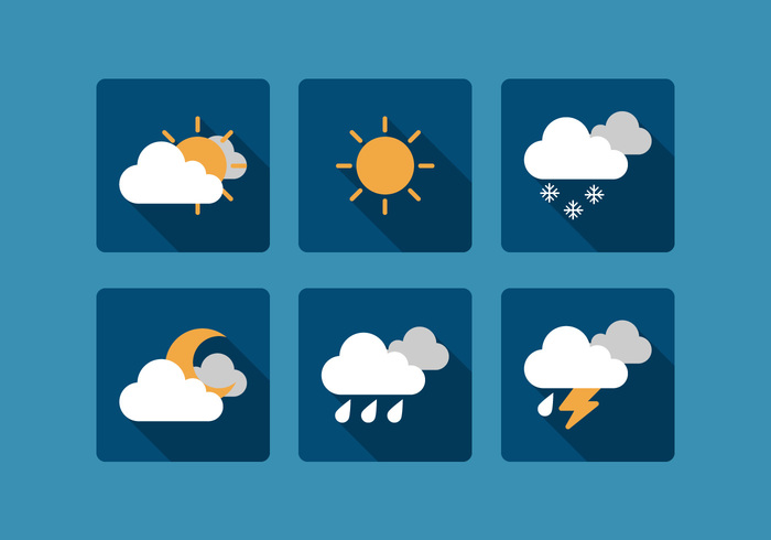 wind weather vector umbrella thunder temperature symbol sunny snowflake sky sign set rainy object night moon mobile lightning interface info icon graphic forecast element drops day cloud climate