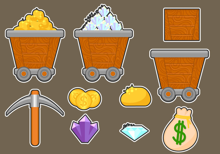 worker work wealth vector underground truck treasure tools Terrain technology symbol strategy stone sign set service ruby rock rich Refinery production power pictogram pickup pick natural money miner Mine materials load isolated iron internet interface industry industrial illustration icons icon helmet hammer gold mine gold gem flat finance factory energy emerald elements dump diamond design concept computer colorful coins Coal cartoon business