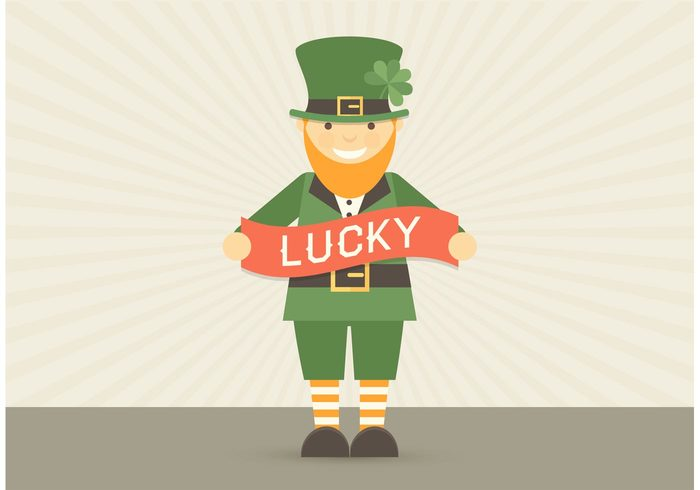 vector tale symbol story shamrock saint red presenting portrait people Patrick outline man Leprechaun Irish Ireland illustration icon holiday hat happy green gnome funny fairytale fairy Elf dwarf drawing design day cute culture costume clover cheerful character celtic celebrating cartoon card cap black beard background