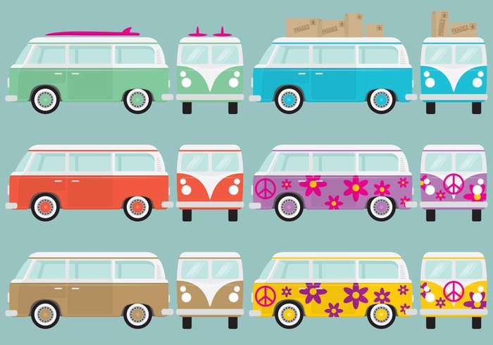 yellow world white vector van vector van vacation trip traveler travel van travel transport trailer tourist surfing summer set rv van rv road retro red pink Outdoor motorhome minivan microbus isolated illustration icon holiday hippie bus hippie flat family design colorful color collection coach classic car camper van Camper camp bus bundle blue background auto Adventure