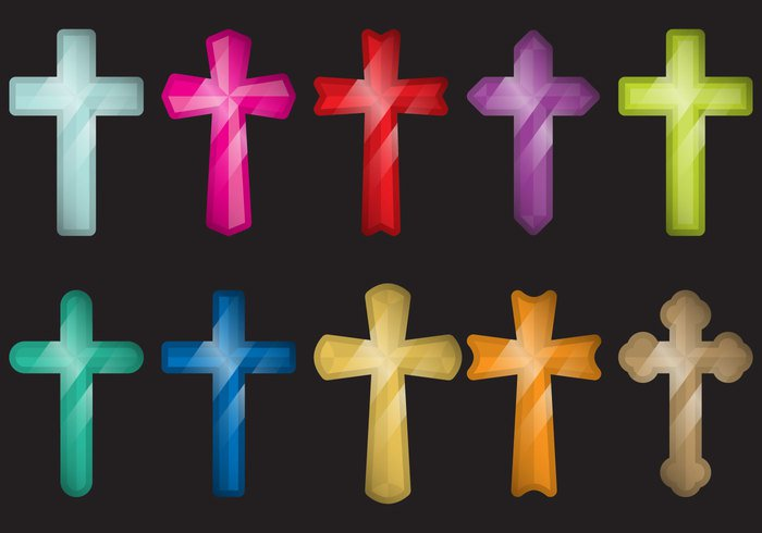 Worship white vector turquoise symbol sign shape set religious religion red purple Orthodox orange nine multicolored maltese cross lifestyle life jesus isolated illustration icon green graphic flat fidelity faith energy different design Crucifix cross confession concept color collection church christian Christ charm cemetery catholic brown blue belief baptism background art Ankh amulet