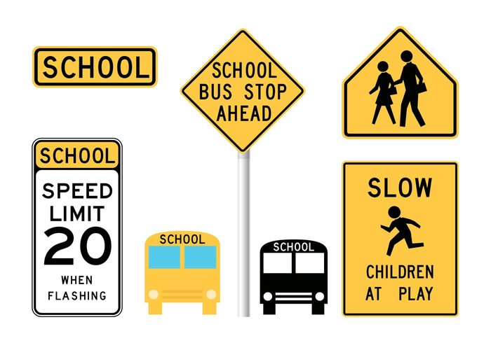 yellow white warning transportation tell student stop signal sign school bus school Restriction restrict recommendation recommend placard outside outdoors Intelligent informative information info hint dissuade curb counsel constraint child caution bus black background alert alarm ahead Advisory advise