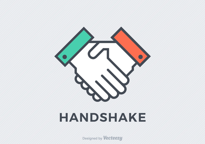 vector together teamwork team symbol success simple sign Shake round respect Relationship professional people partnership meeting male line Leadership isolated illustration icon handshake icon handshake hand greeting friendship friends flat finance design deal corporate Cooperation contract congratulating concept businessman business background agreement Adult