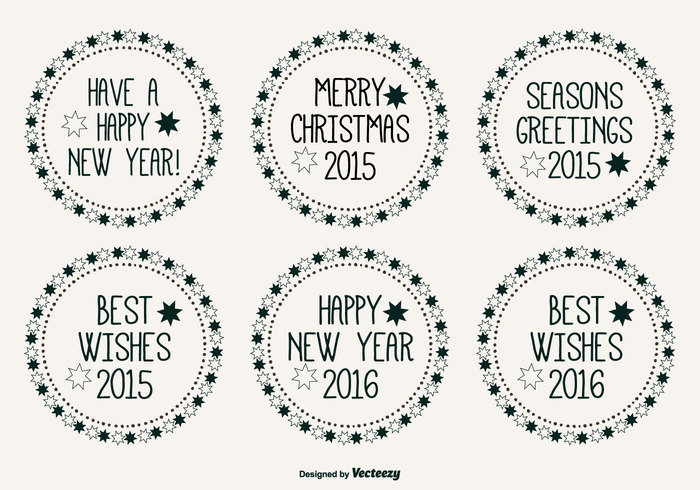 year xmas winter text symbol season round poster postcard party ornate ornament merry christmas merry Lettering label set label invitation image illustration holiday happy new year happy handwritten hand greeting emblem element drawn decoration December cute comic colorful circle christmas labels christmas celebration best wishes banner 2016 2015