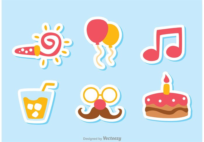 surprise party icon party music isolated happy birthday happy happiness glass fun food Fireworks feliz cumpleaños event entertainment drink dessert cumpleaños confetti cocktail celebration candle cake birthday icon birthday balloon