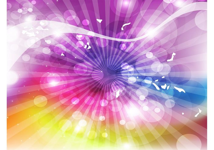 sixties seventies retro psychedelic peace Mesh vector hippie flower power colorful bright art abstract 70's 60's