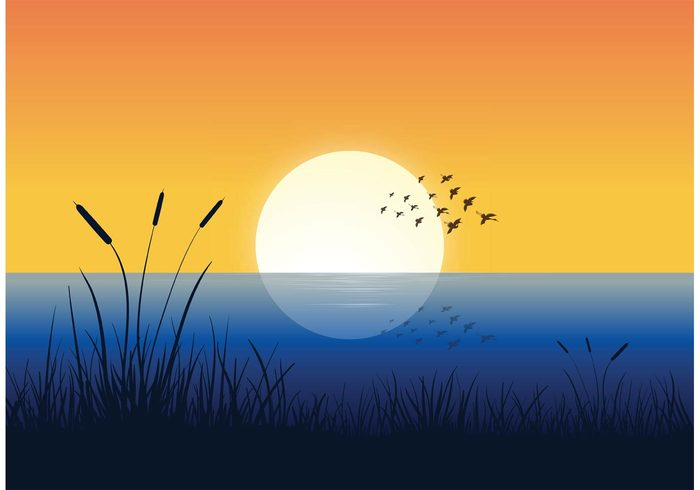 wreath wings winged water vector symbol sunset sunrise silhouettes shape set river nature many landscape isolated illustration group graphic formation fly flock of birds vector flock flight feather design clip art black birds background animals