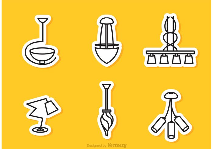 spotlight shape outline object modern chandelier modern luxury light lantern lamp interior furniture decoration chandelier black