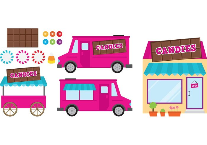 truck sweetest sweet summer shop sell labels food truck food cart food dessert corn candy chocolate cart Candy shop candy cart candy candies shop candies buy