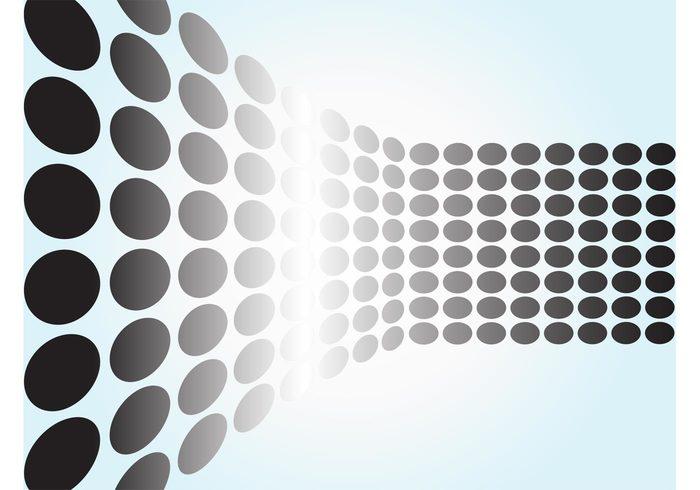 Vector dots round path halftone Geometry geometric shapes ellipse dot decoration colors colorful circles