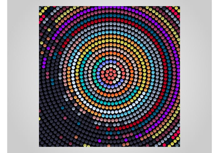 round poster party nightlife music geometric shapes flyer colors colorful club circles background backdrop abstract