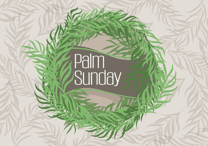 vintage tree symbols sunny sunday shadow Rosary retro religious plant palm sunday palm nature leaves leaf holiday green frame element easter Composition christian background