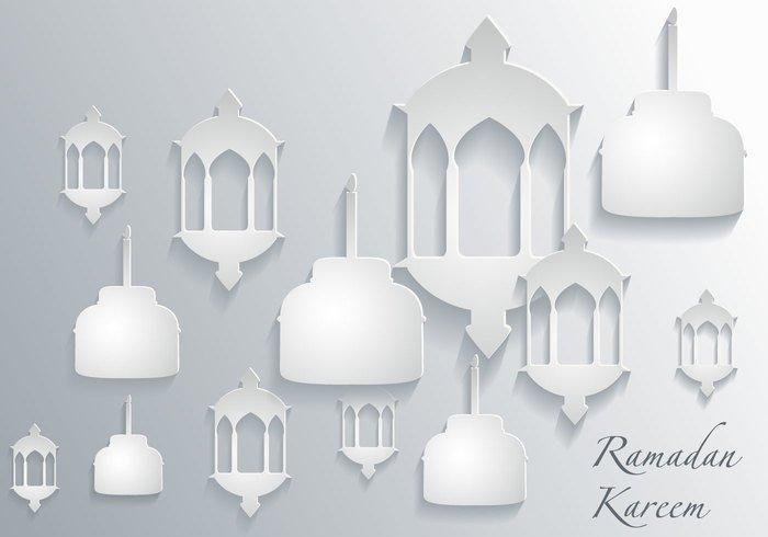vector traditional stand out religious raya ramadhan ramadan pelita pattern paper Overlap ornament Muslim lamp kareem islamic Islam illustration Hari raya geometric elegant eid-il-fitr design celebration background asia aidilfitri 3d