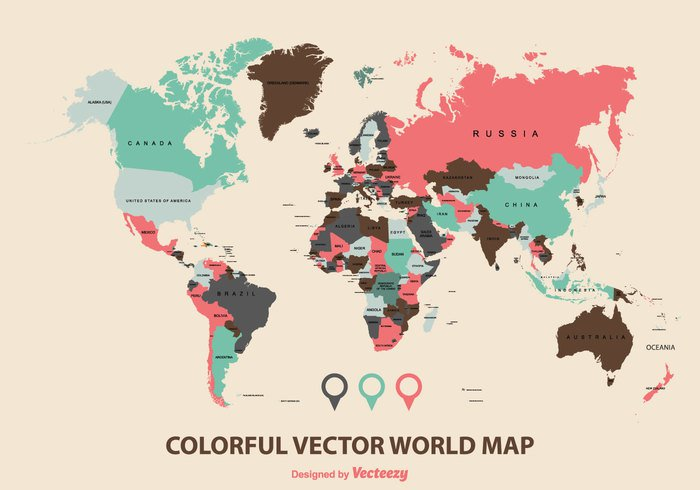 worldmap world map vector world map world versatile vector map vector USA travel states south selectable sea political planet oceans north nations national name multicolored maps map locations labeled illustration green globe global geography Geographical Europe editable earth Detail design country continents continent cities Cartography business borders blue background Australia atlas asia Antarctica africa