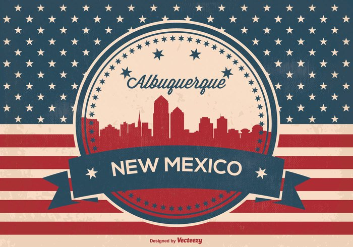 word west vintage view USA us united states United town text symbol states state south skyline silhouette sign retro red white blue patriotic paper panorama old north new mexico skyline new name mexico flag east country concept clash city silhouette city central capital background attack american flag american america albuquerque skyline albuquerque new mexico albuquerque