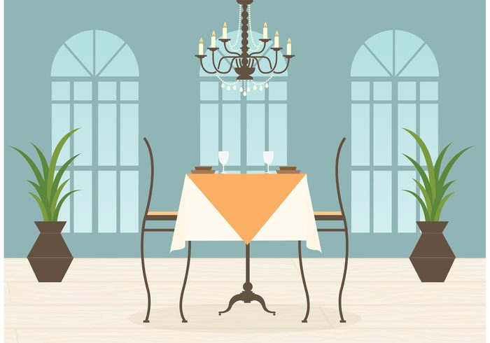 views vector table setting service scene romantic romance restaurant interior restaurant relax pub pair lunch leisure interior illustration hotel hospitality graphic food Feeling EPS eat drink dinner table setting dinner dining dating curtain couple cocktail chandelier chair candle cafe beverage art architecture