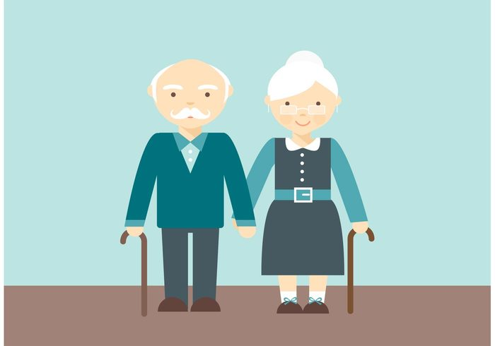 woman wife walk vector two together Smile Single senior couple senior romantic Retired people object nice Mature married love Look kind isolated illustration icon Husband Hold happy Grandparents Grandmother grandfather funny fun flat family element elderly elder design couple concept character cartoon caricature background art